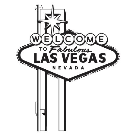 Las Vegas Welcome Sign Wall Quotes™ Wall Art Decal