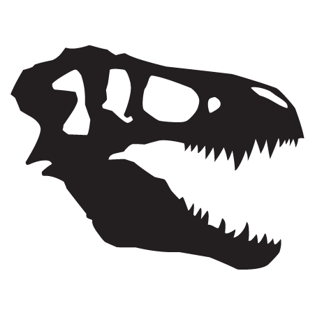 T-Rex Skull Dinosaur Fossil Wall Quotes™ Wall Art Decal | WallQuotes.com