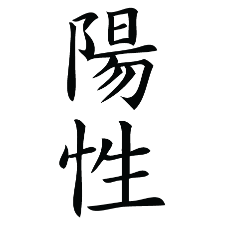 Positive Chinese Symbol Wall Quotes Wall Art Decal
