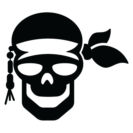 Pirate Skull & Bandana Wall Quotes™ Wall Art Decal ...
