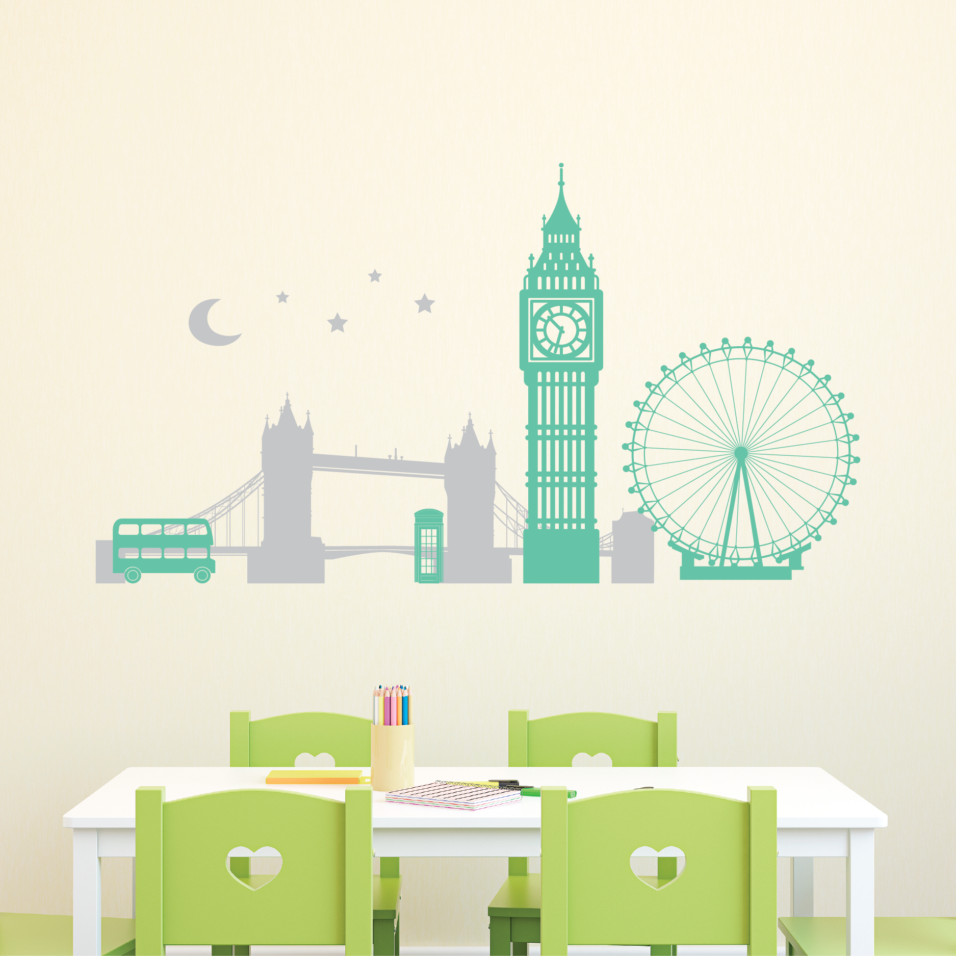 London Skyline At Night Wall Quotes Wall Art Decal