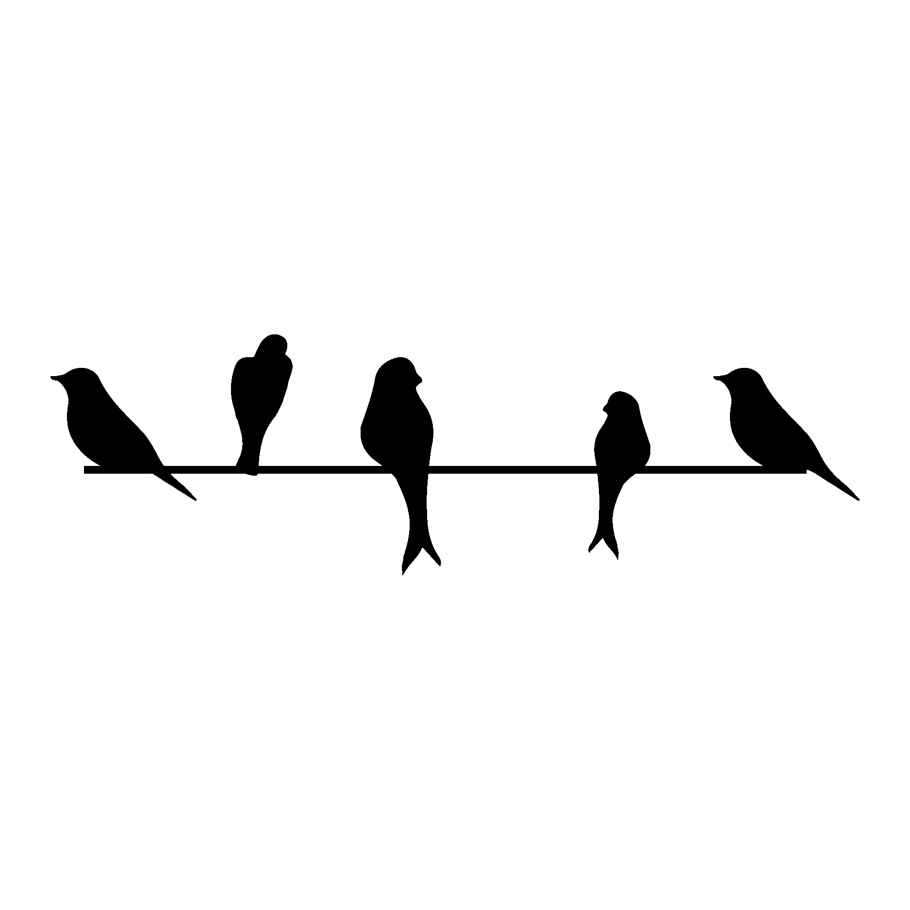 Birds On A Wire Wall Quotes Wall Art Decal Wallquotes Com
