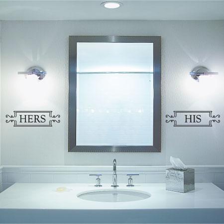 Kids Bathroom Mirror Decal