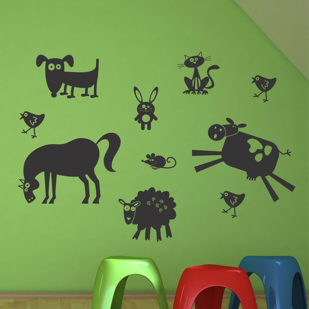 Whimsical Farm Animals Wall Quotes Wall Art Decal