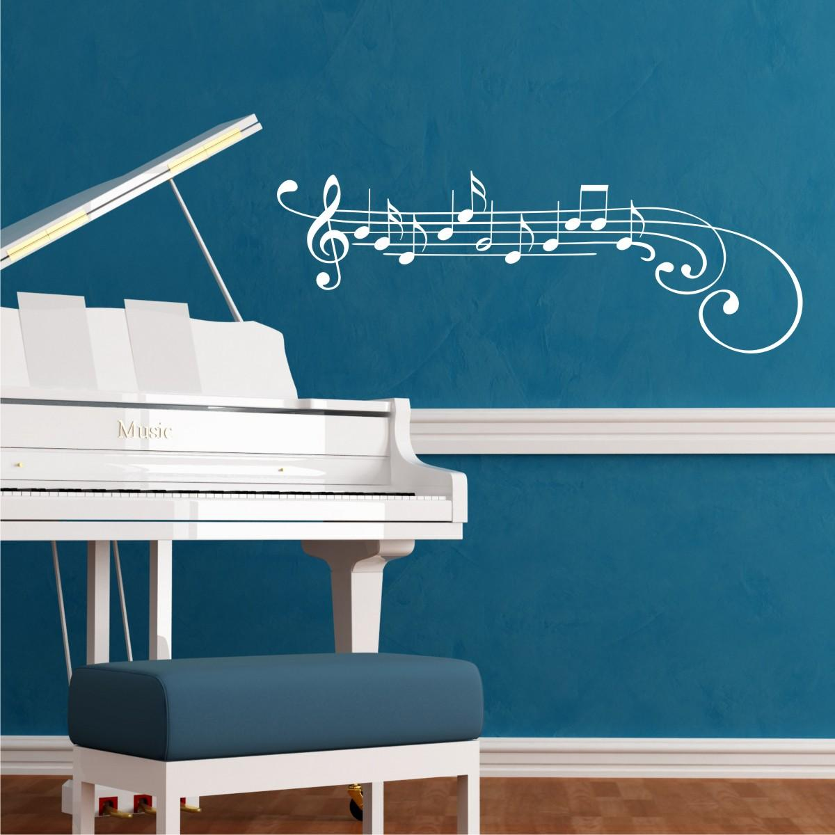 Treble Clef And Notes Wall Quotes Wall Art Decal