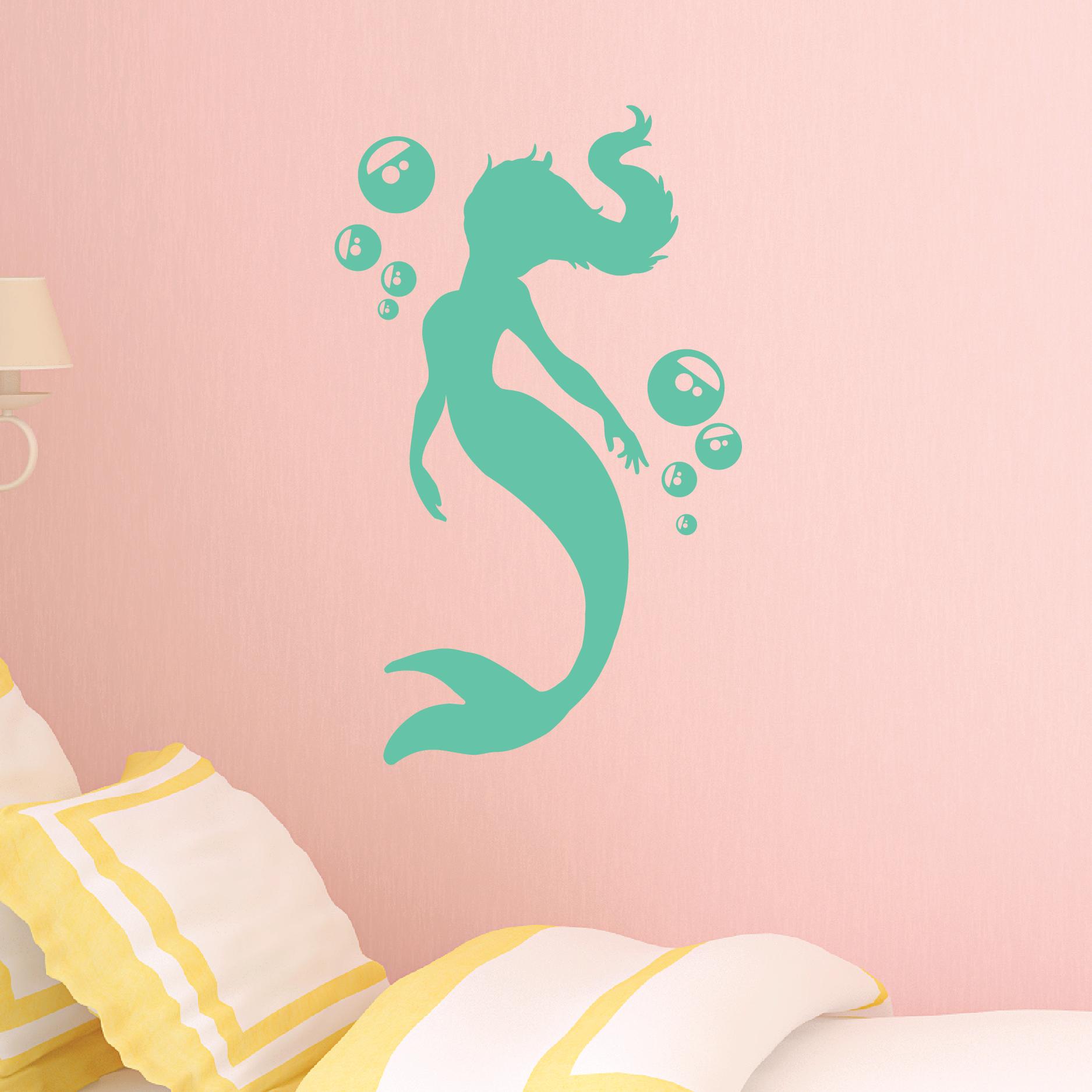Bubbles Mermaid Wall Quotes Wall Art Decal Wallquotes Com