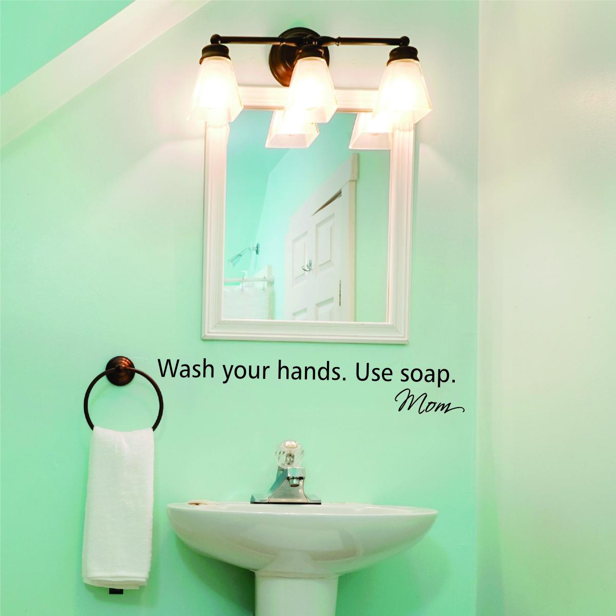 Wash Your Hands Wall Quotes Decal Wallquotes Com