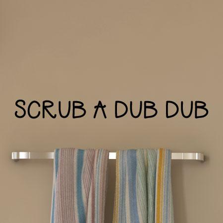 BA014 Rub A Dub Dub Bathroom Vinyl Wall Decal Art Decor