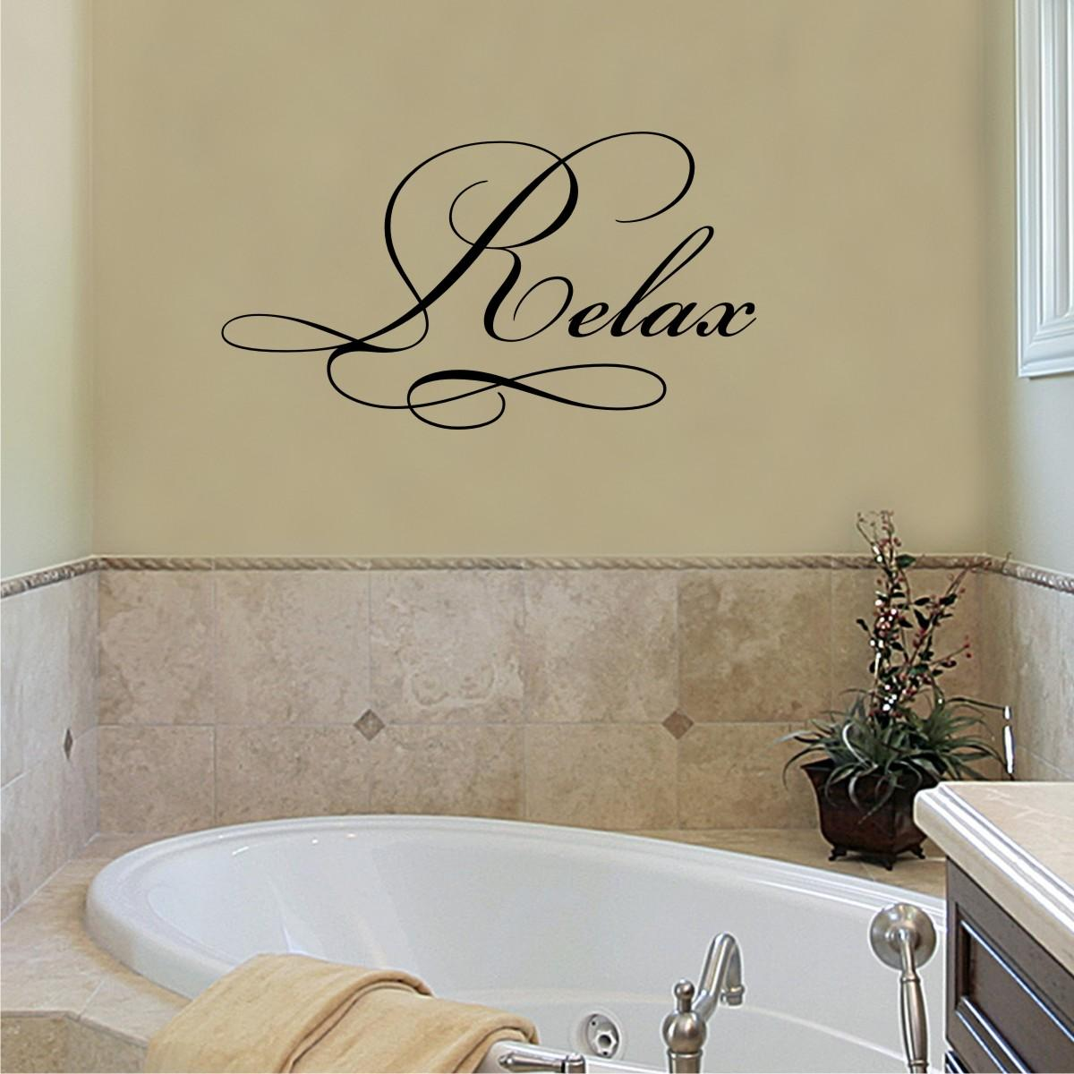 Relax Elegant Wall Quotes Decal Wallquotes Com