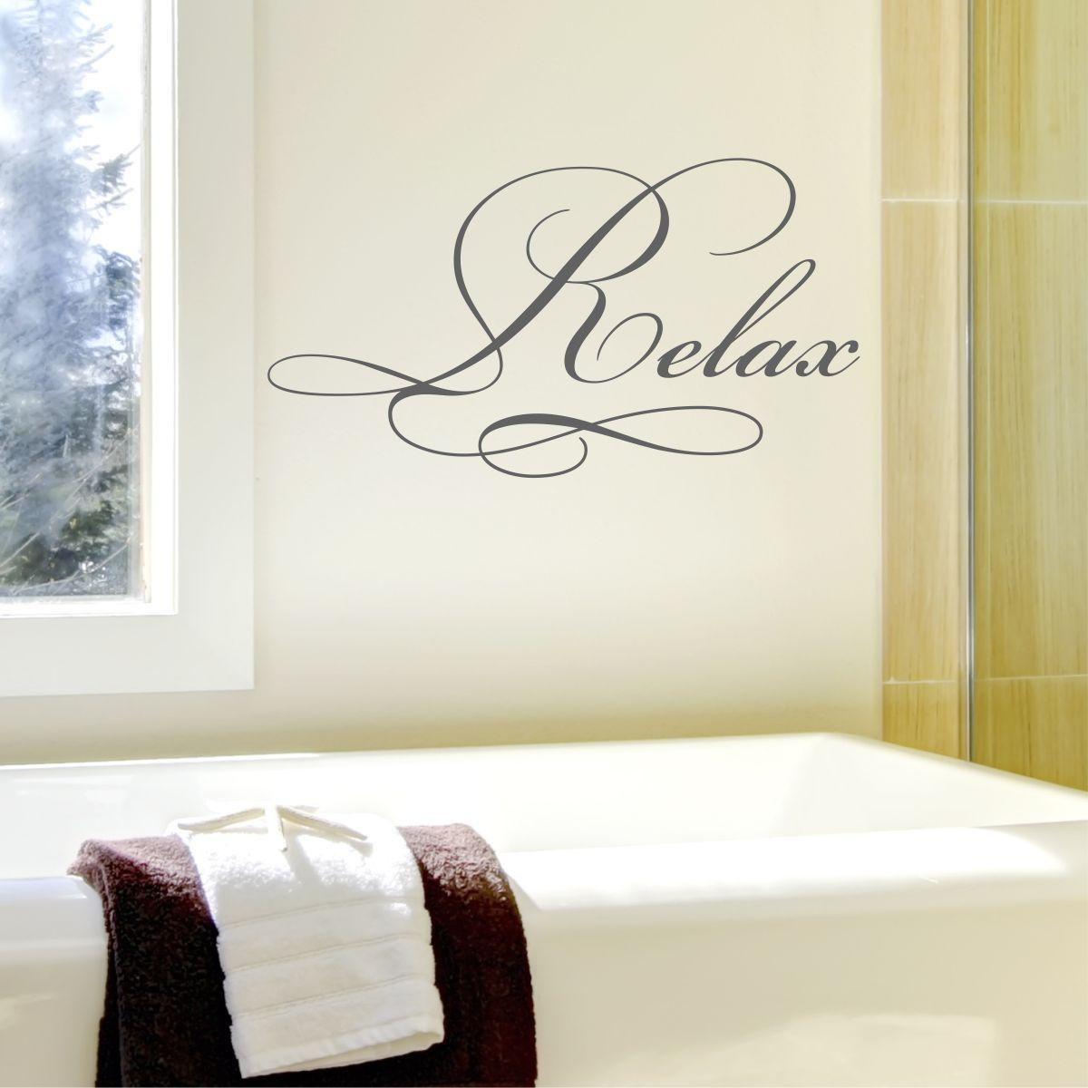 relax elegant wall quotes u2122 decal