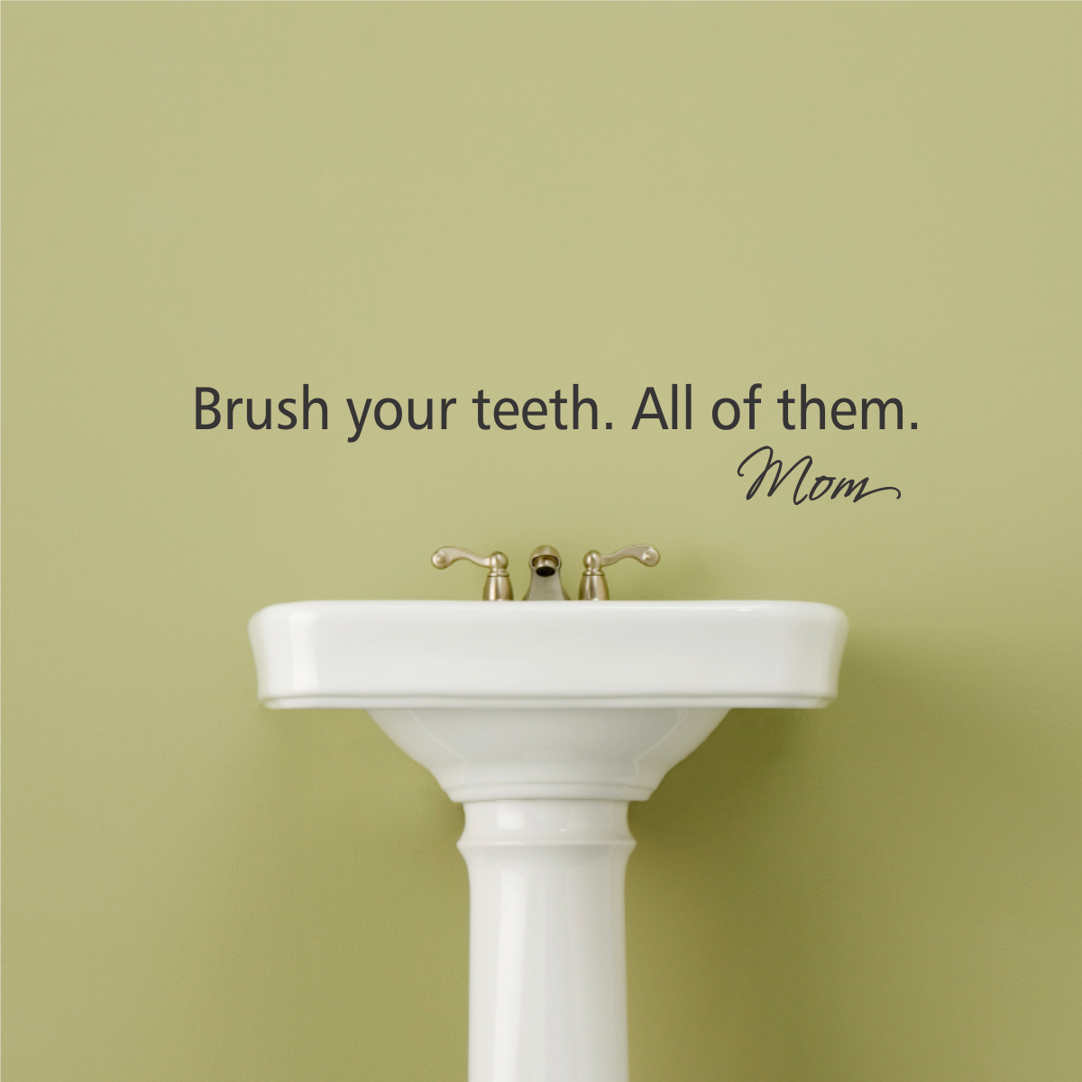 Brush Your Teeth Wall Quotes Decal Wallquotes Com