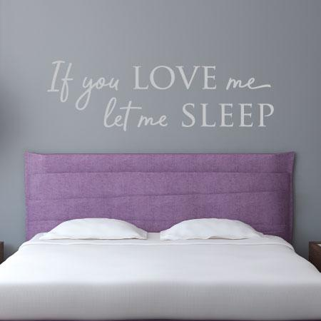 let me sleep wall quotes™ decal   wallquotes