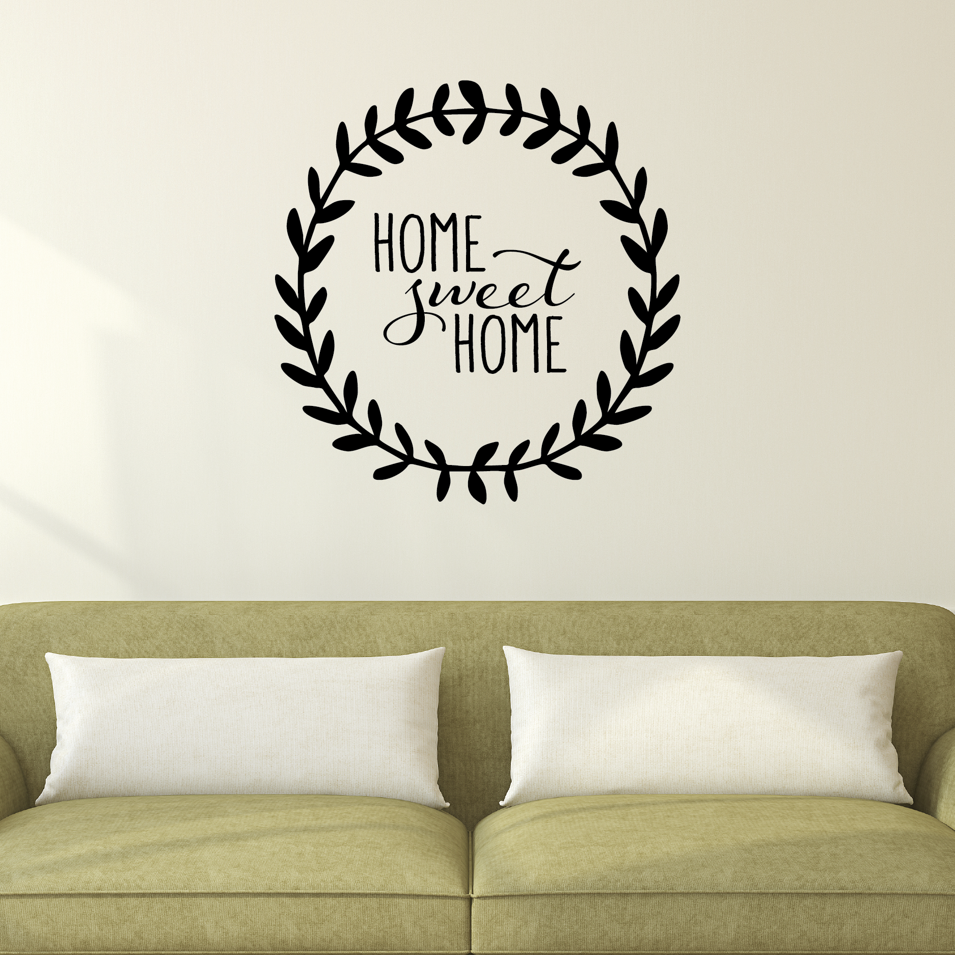 home sweet home leaves wall quotes decal