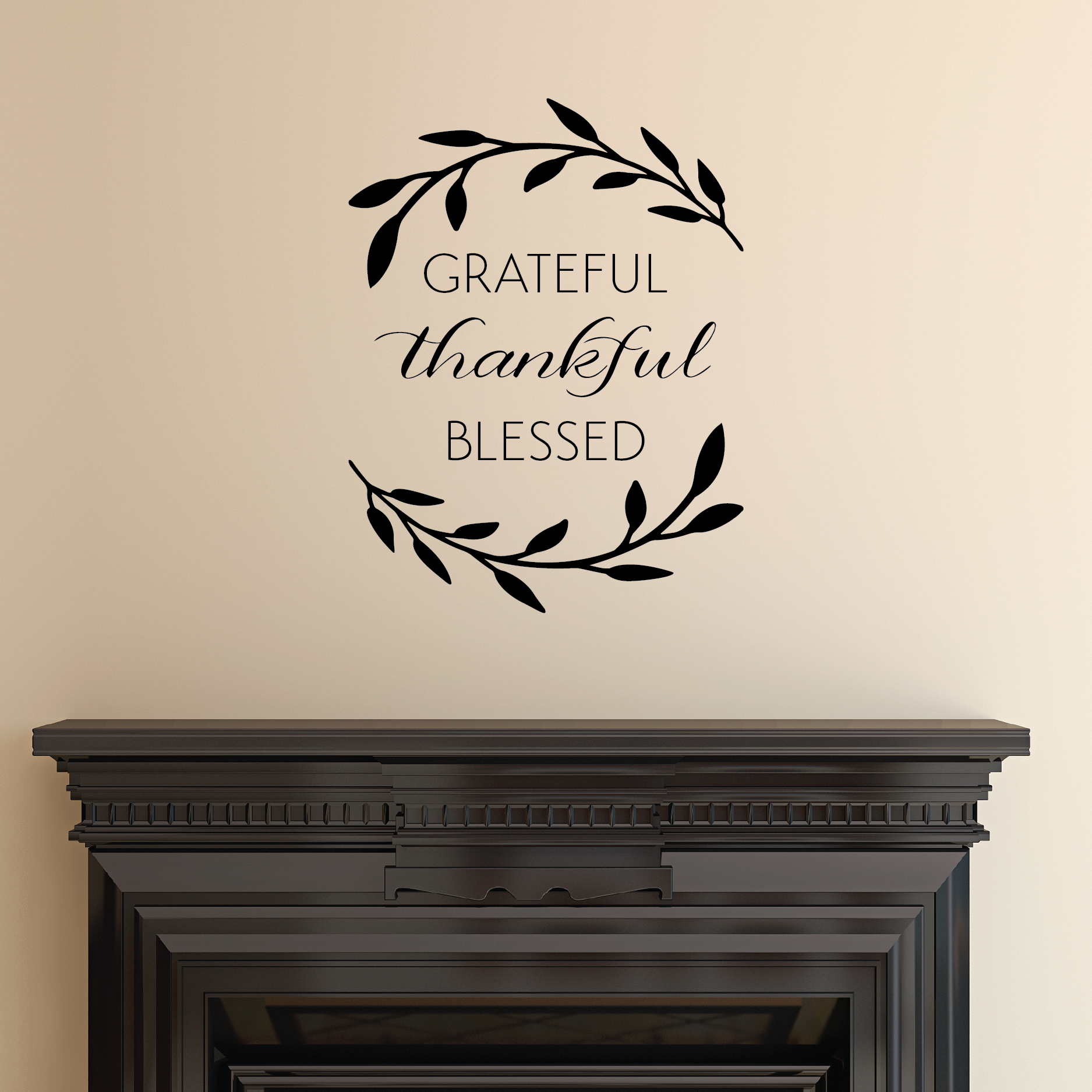 grateful thankful blessed wall quotes u2122 decal