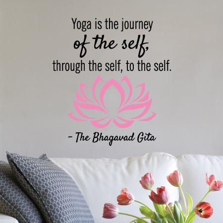 Yoga Is The Journey Wall Quotes Decal Wallquotes Com