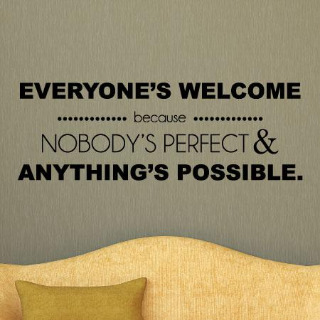 everyone's welcome wall quotes™ decal | wallquotes