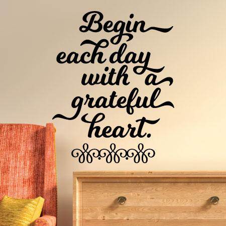 Grateful Heart Wall Quotes Decal Wallquotes Com