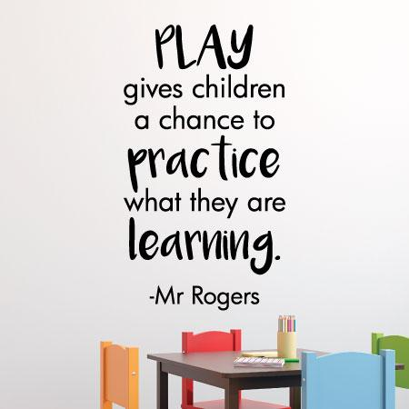Play is Practice Wall Quotes™ Decal | WallQuotes com