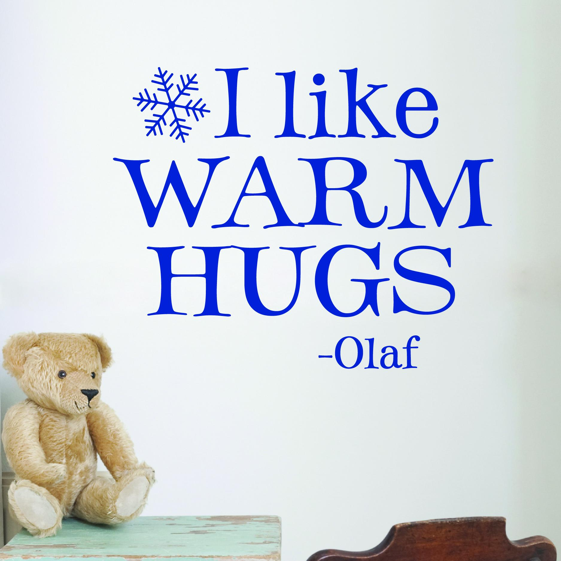 Warm Hugs Wall Quotes Decal Wallquotes Com