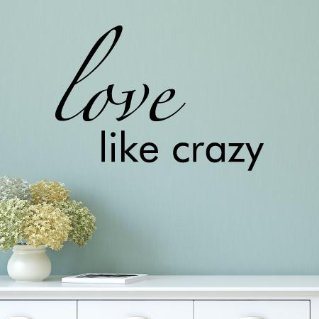 Love Like Crazy Wall Quotes Decal Wallquotes Com