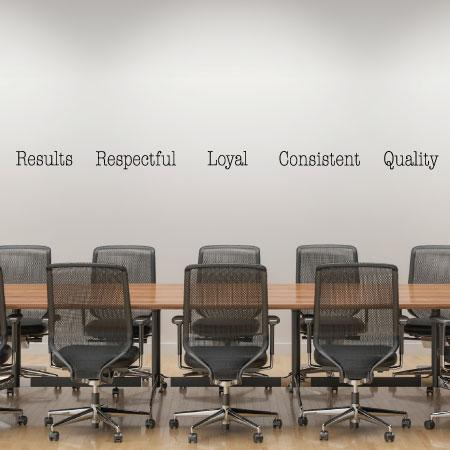 Office Core Values 3 Wall Quotes Decal Wallquotes Com