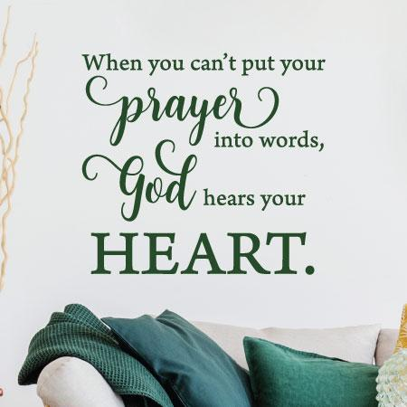 God Hears Your Heart Wall Quotes Decal Wallquotes Com