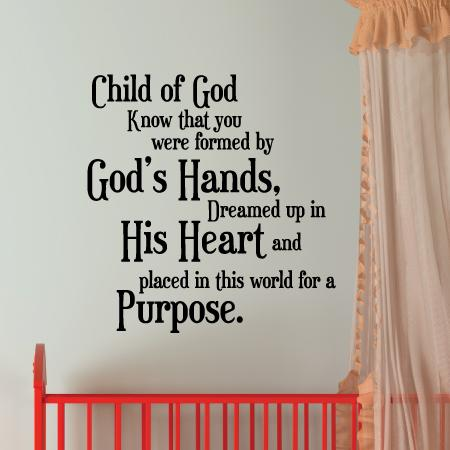 Child Of God Wall Quotes Decal Wallquotes Com