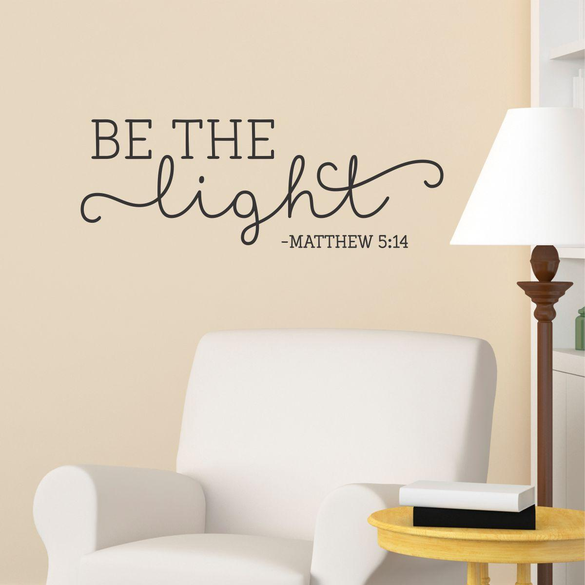 Wall Quotes With Lights : Be The Light Wall Quotes Decal WallQuotes.com