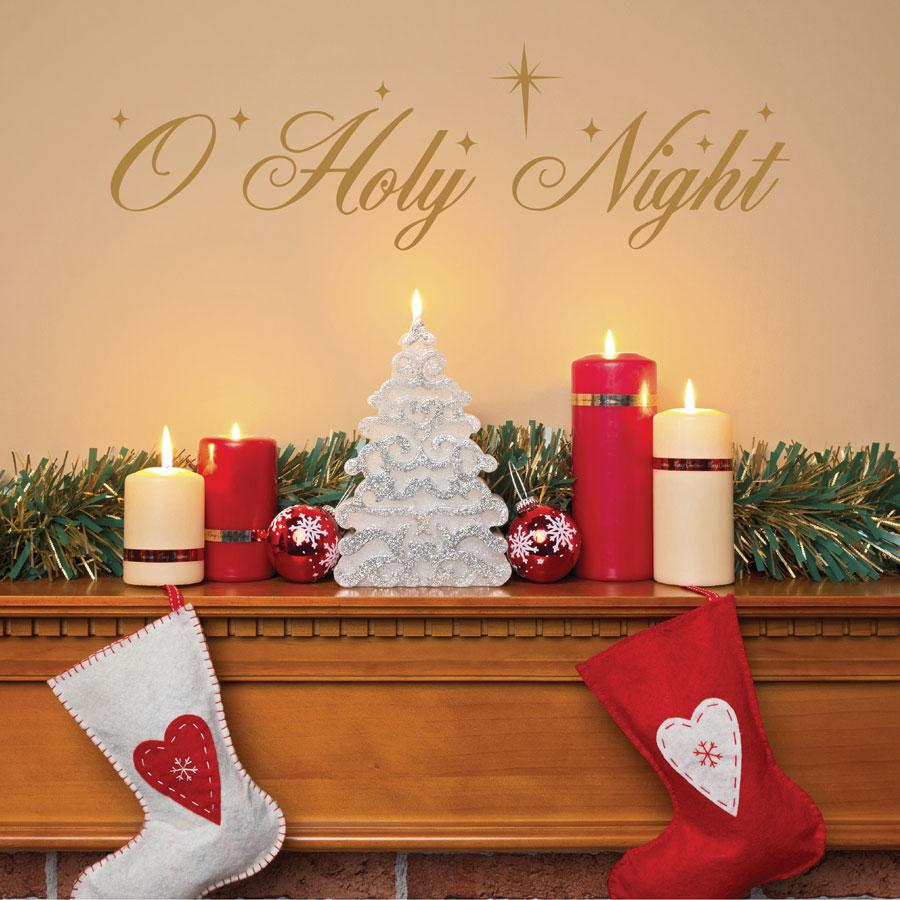O Holy Night Wall Quotes™ Decal | WallQuotes.com