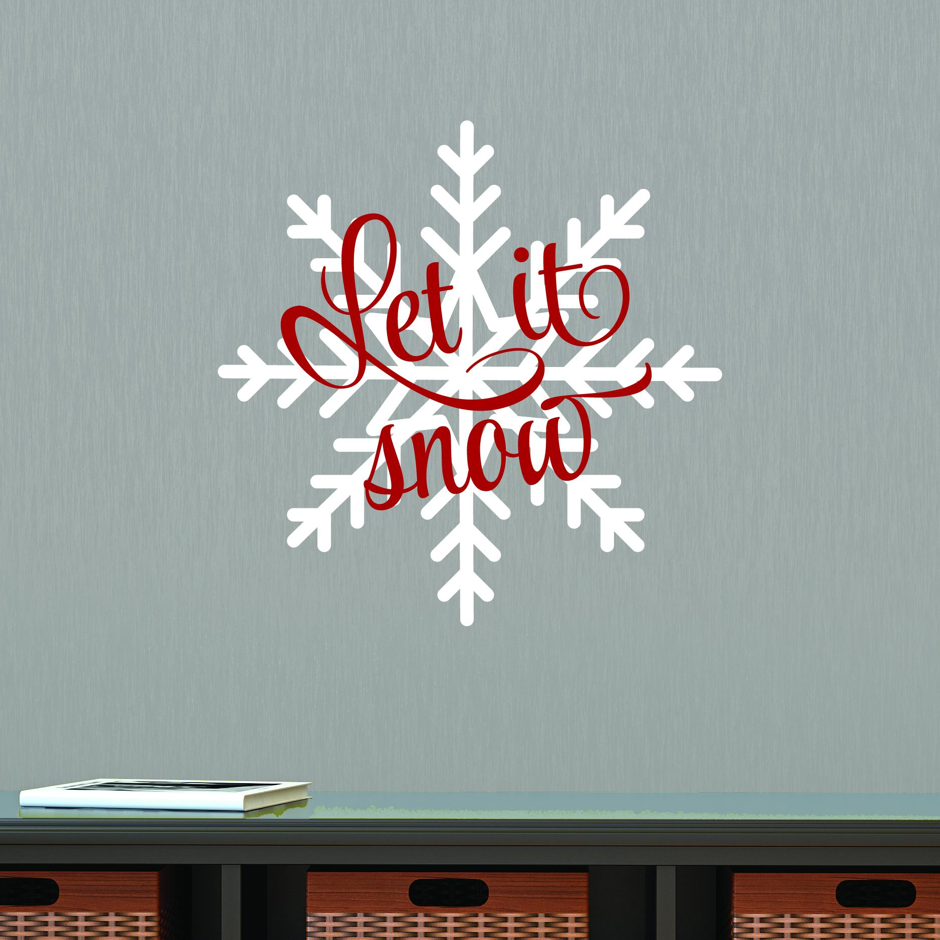 let it snow snowflake wall quotes u2122 decal
