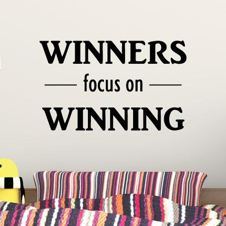 Winners Focus On Winning Wall Quotes Decal Wallquotes Com