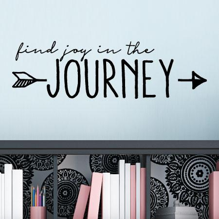 Find joy in the journey wall quotes decal for Removing vinyl wallpaper