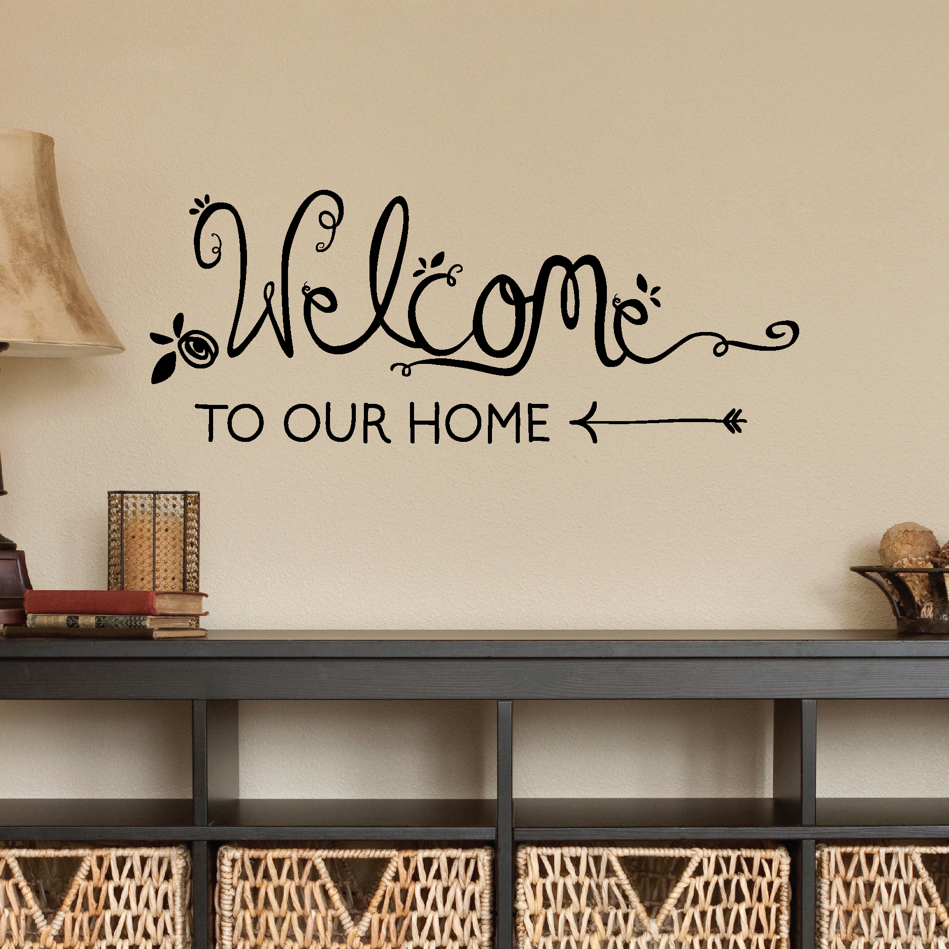 Welcome To Our Home Handwritten Wall Quotes Decal