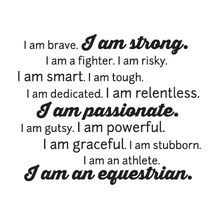 I Am An Equestrian Wall Quotes Decal Wallquotes Com
