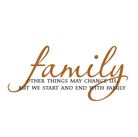 Start And End With Family Classical Wall Quotes Decal