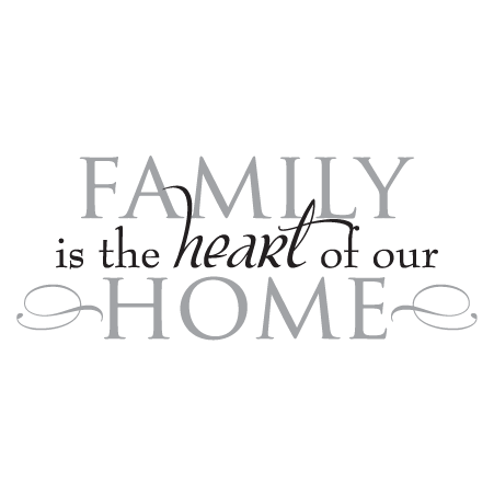 family heart of home wall quotes decal com