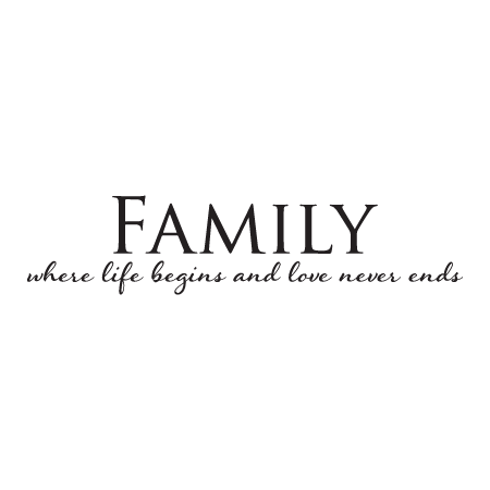 Family Love Never Ends Wall Quotes Decal Wallquotes Com
