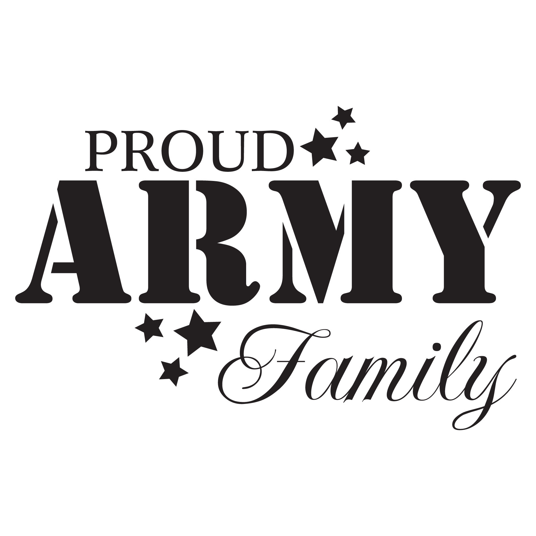 proud army family wall quotes u2122 decal