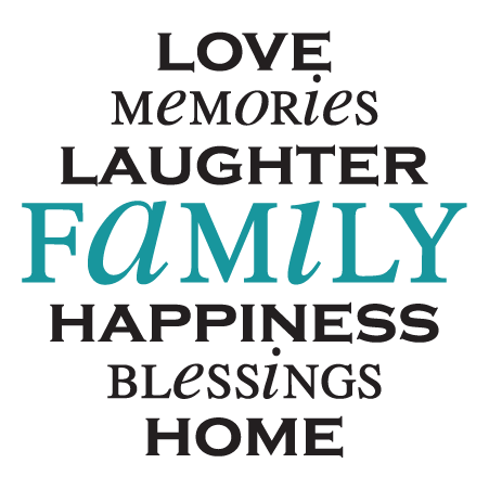 Love Memories Laughter Family Wall Quotes Decal