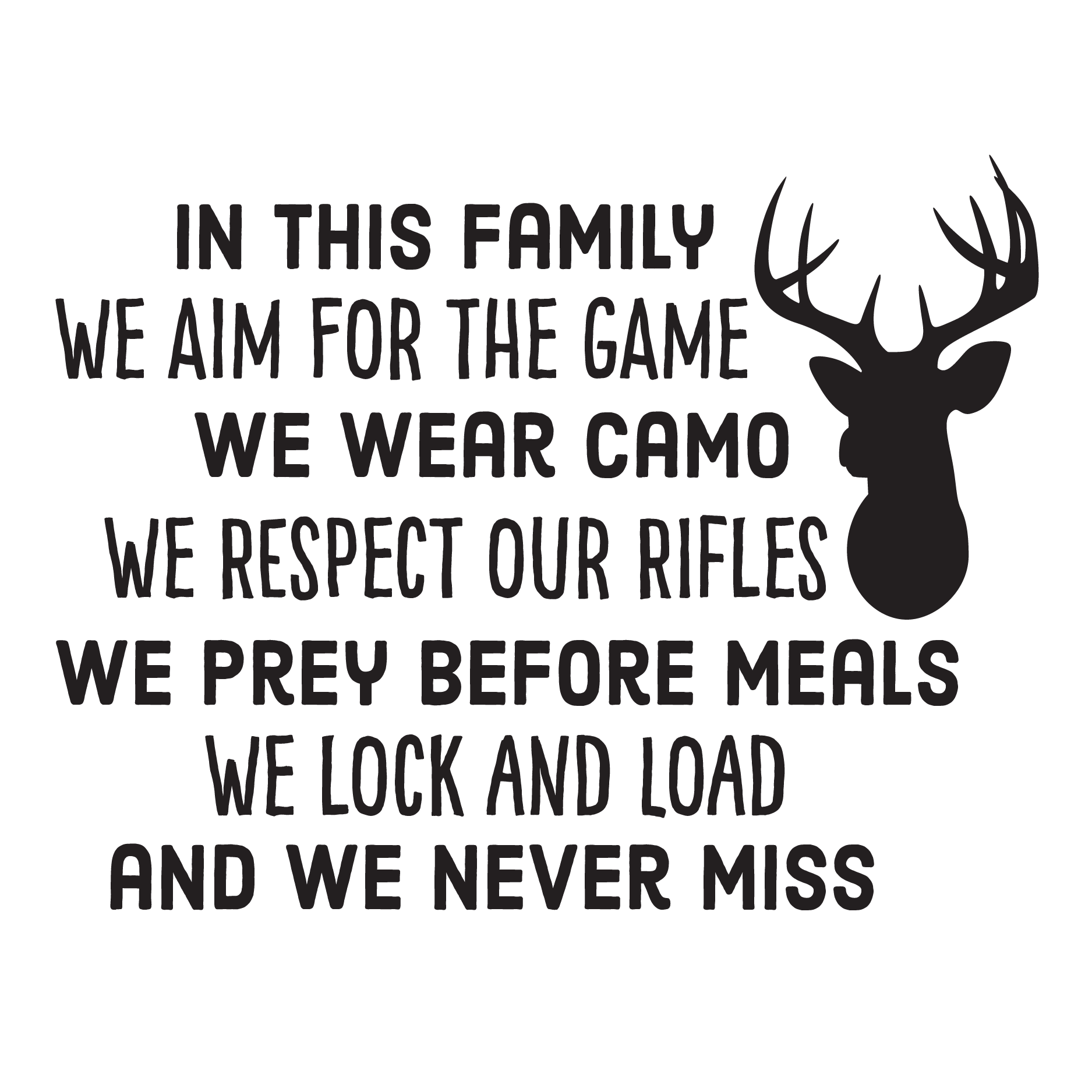Hunting Family Rules Wall Quotes Decal Wallquotes Com