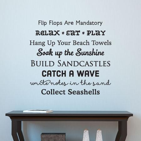 Beach House Rules Wall Quotes Decal Wallquotes Com