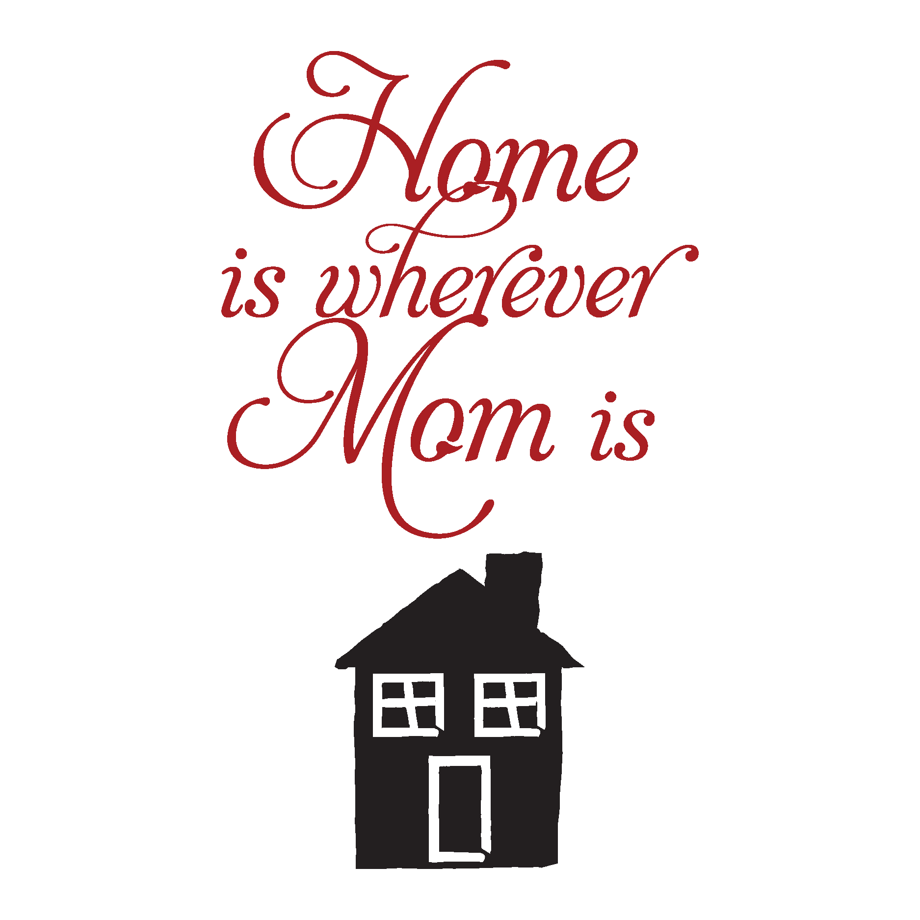 Home Is Where Mom Is Wall Quotes Decal Wallquotes Com
