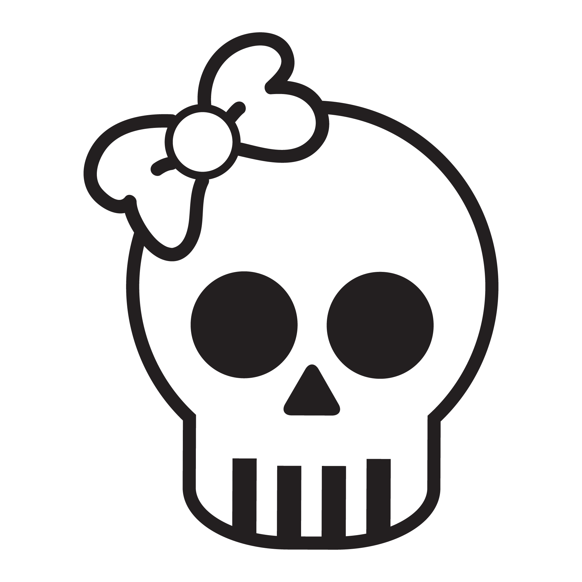Cute Bow Skull Wall Quotes™ Decal | WallQuotes.com