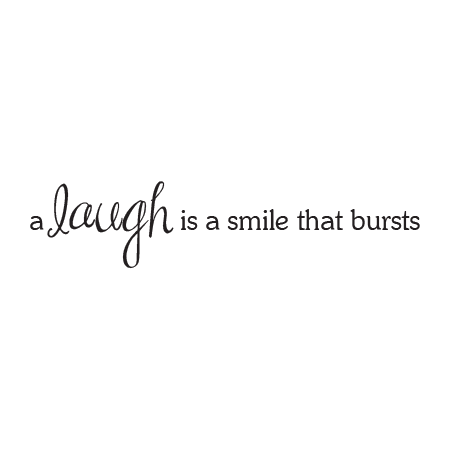 laugh is a smile wall quotes decal com
