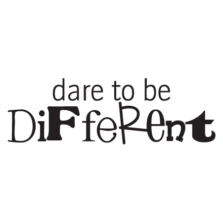 Dare to be Different Wall Quotes™ Decal | WallQuotes.com