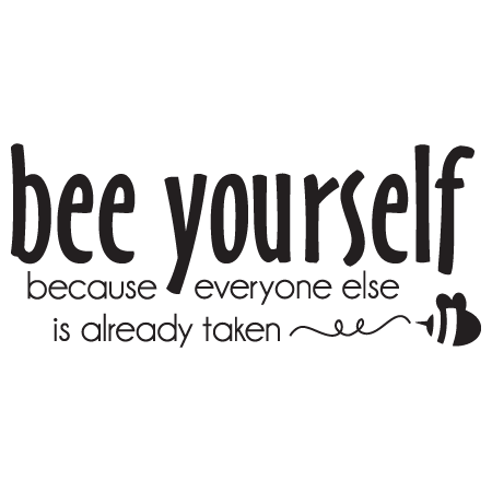 Bee Yourself Wall Quotes™ Decal | WallQuotes.com