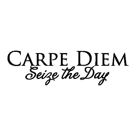 Carpe Diem In Greek Letters