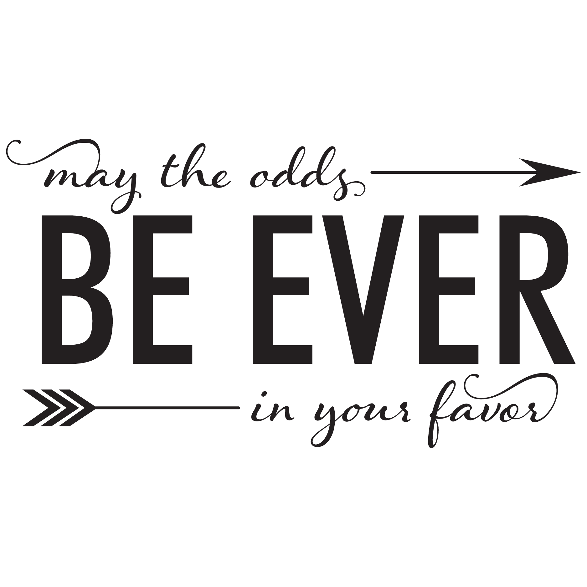 May The Odds Be Ever In Your Favor Wall Quotes Decal