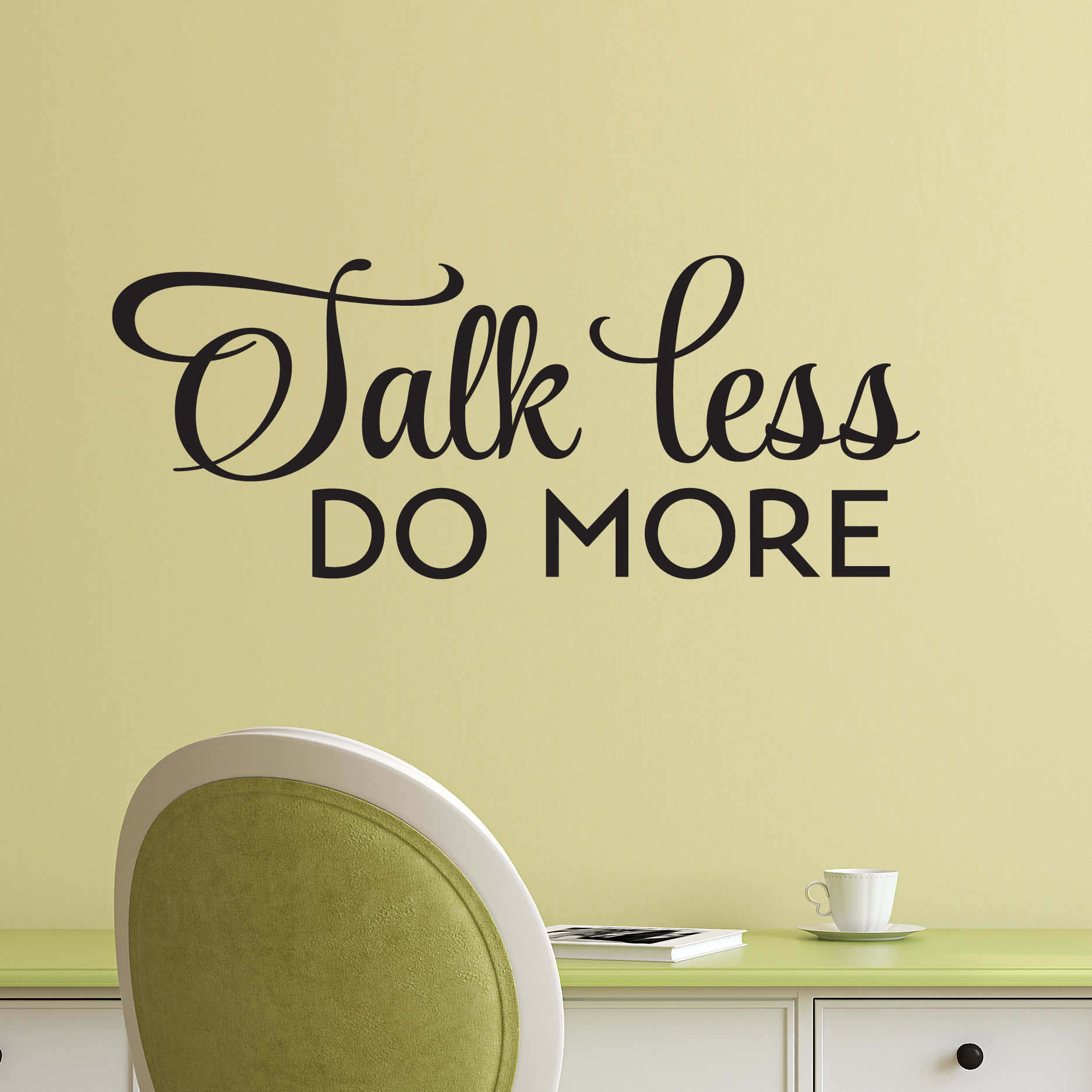 Where In The Bible Does It Talk About Christmas Trees: Talk Less Do More Wall Quotes™ Decal