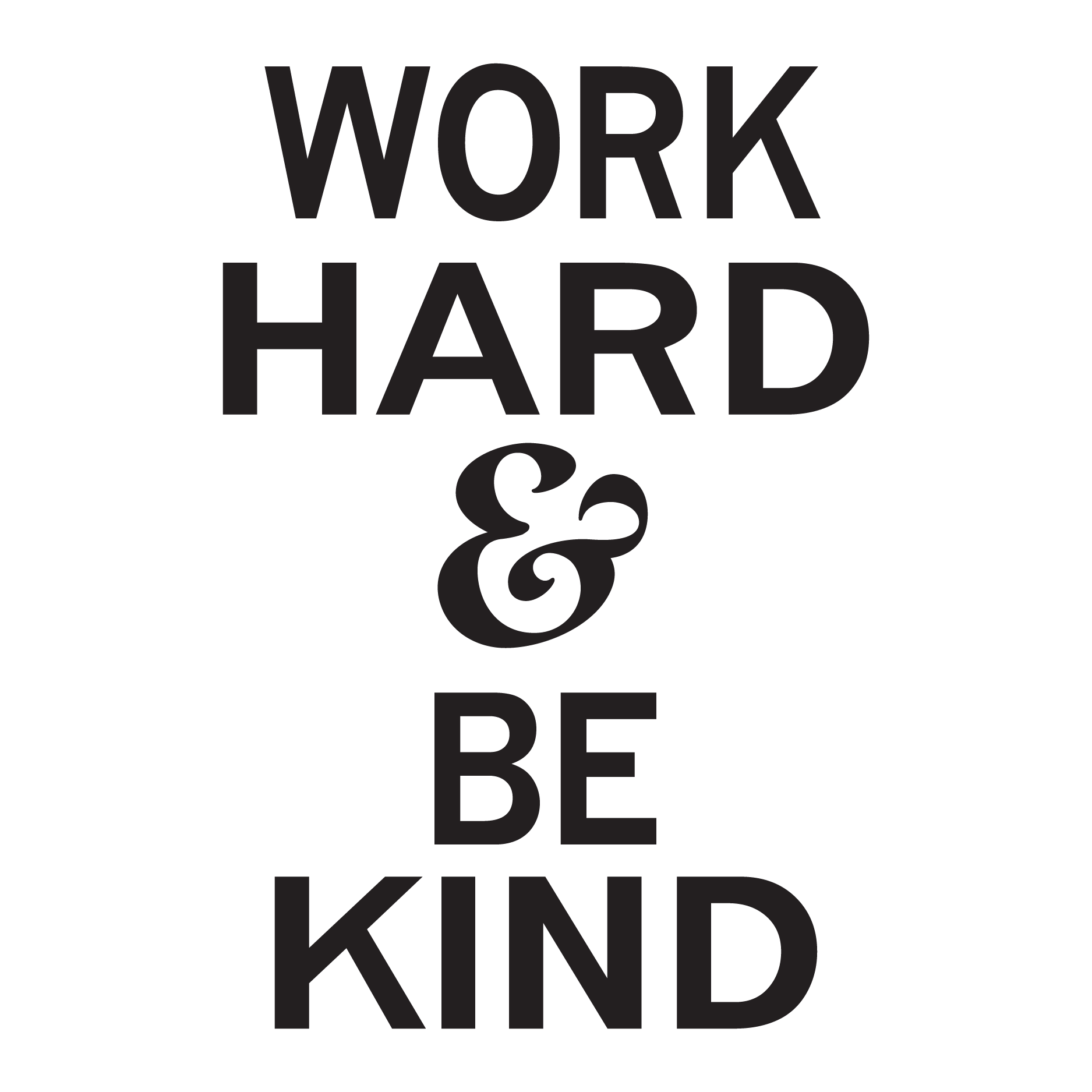 Work Hard Amp Be Kind Wall Quotes Decal Wallquotes Com